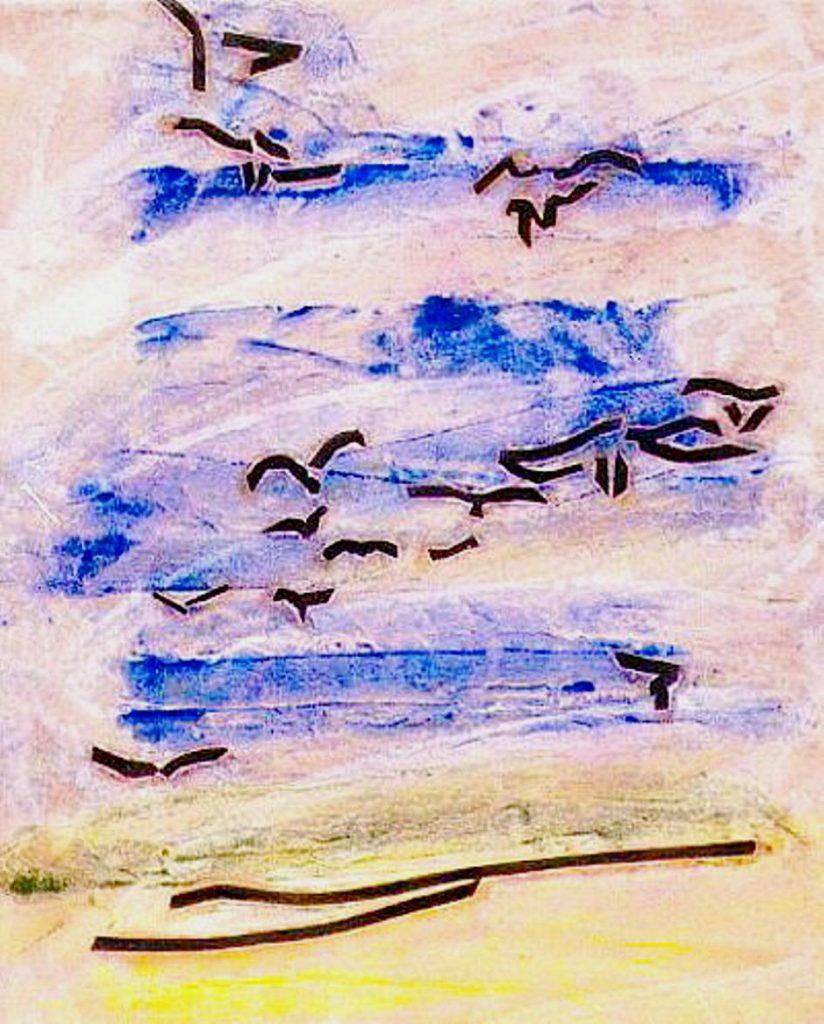 uccelli nel paesaggio